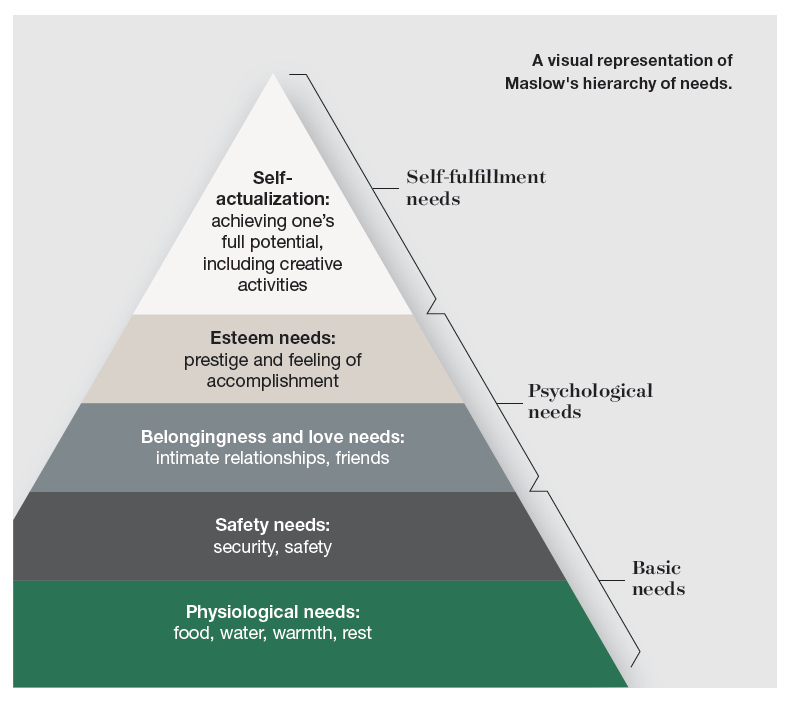 chart with Maslow's Hierarchy of Needs